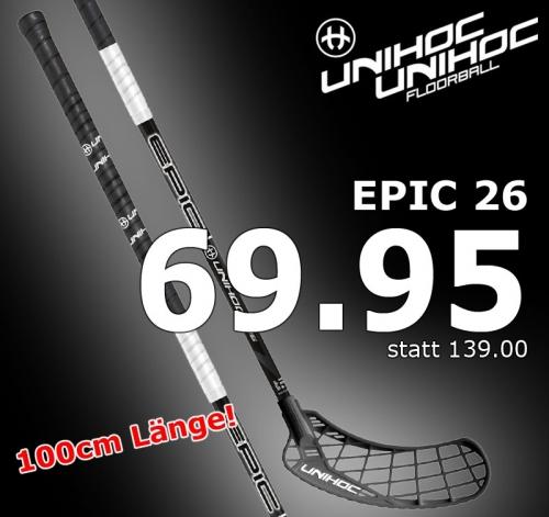 unihoc EPIC 26 schwarz/weiss