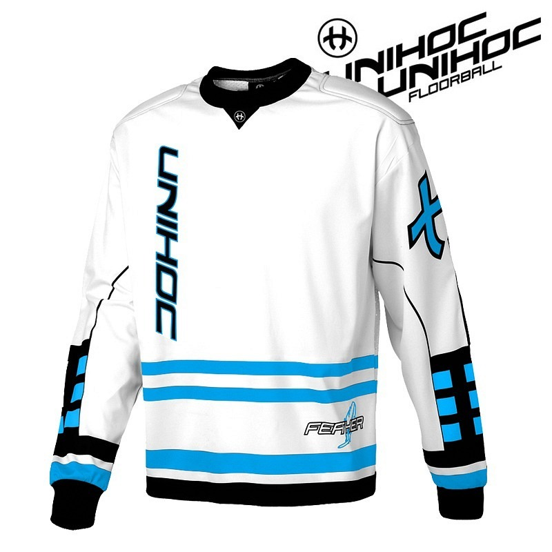 unihoc Goalie Sweater Feather white/blue
