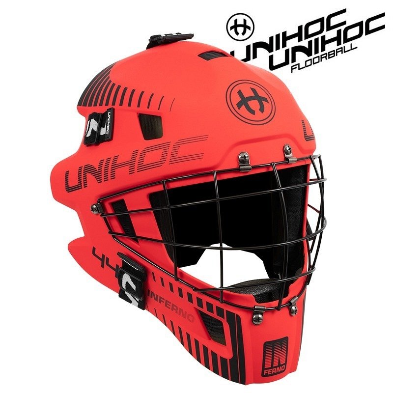 unihoc Goaliemaske Inferno 44 weiss/sc..