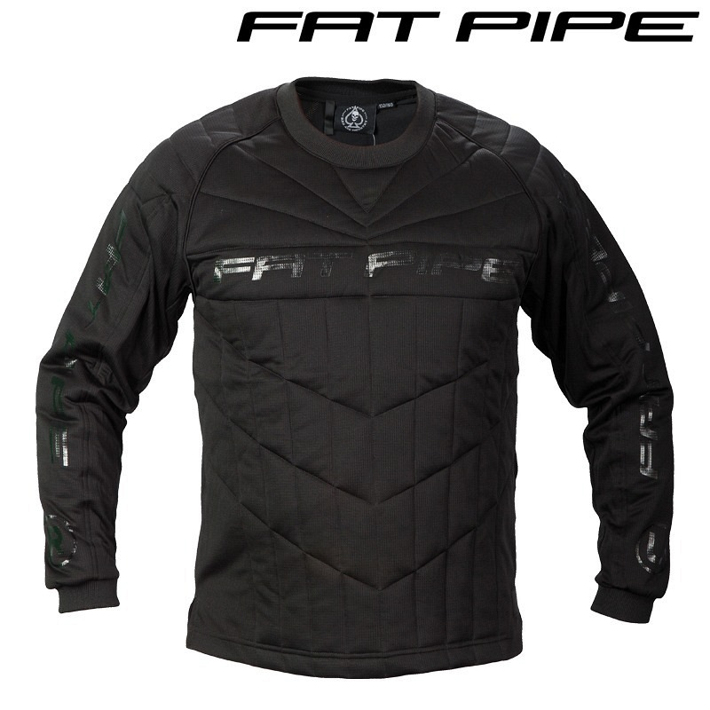 Fatpipe Goalieshirt Junior All Black m..