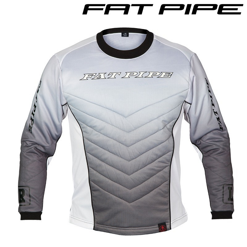 Fatpipe Goalieshirt Junior grey mit Pa..