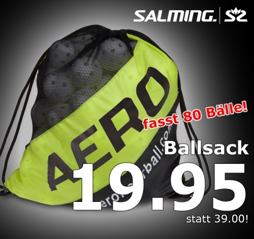 Salming Ballsack Aero gelb/schwarz