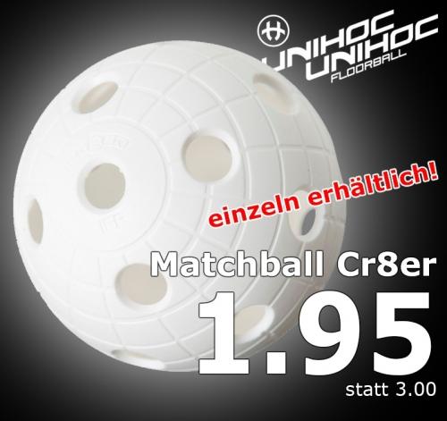 unihoc Matchball Cr8er weiss
