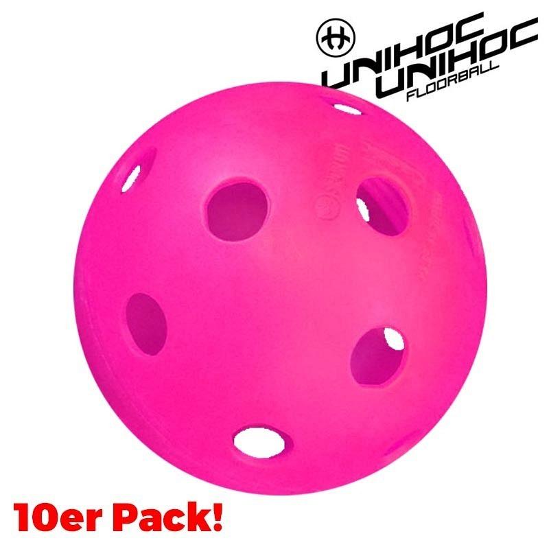unihoc Matchball Classic cerise (10-Pa..
