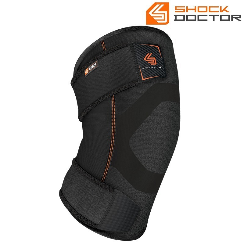 Shockdoctor Kniebandage Wrap mit Gel black/grey