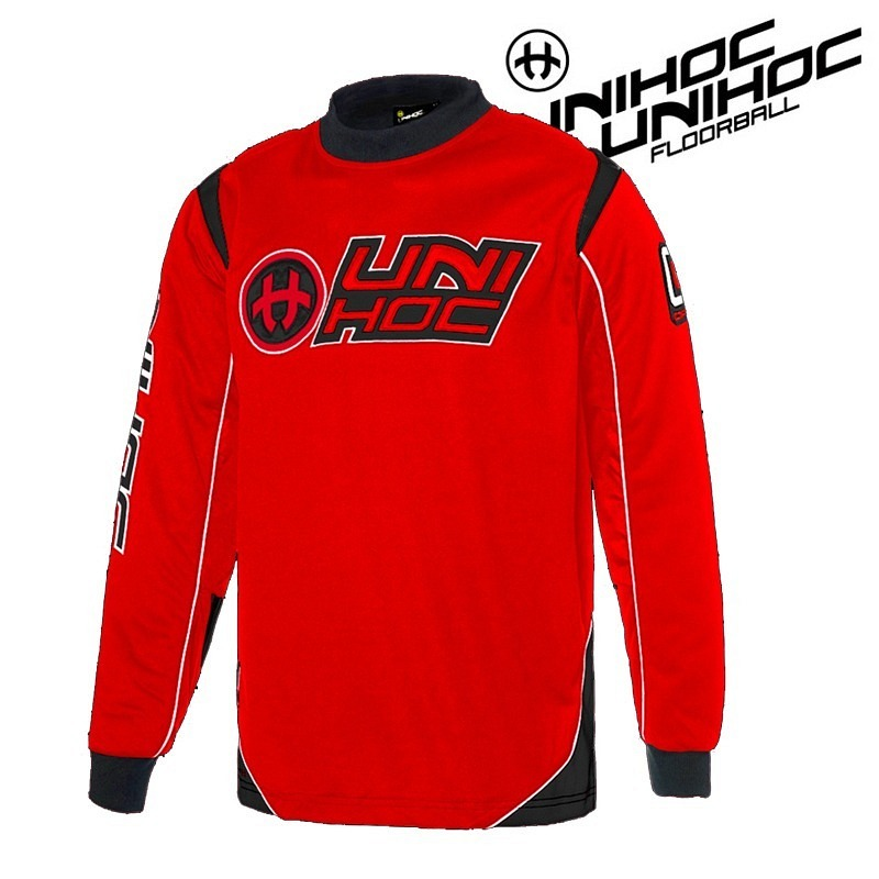 unihoc Goalie Top Optima rot/schwarz