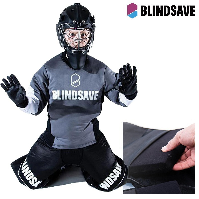 Blindsave Goalieset Junior grau/schwarz