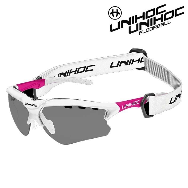 unihoc Sportbrille X-Ray white/cerise