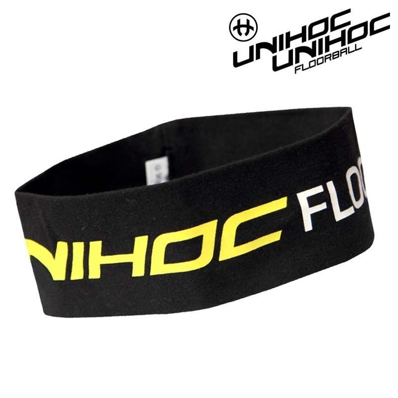 unihoc Headband Hashtag black/yellow