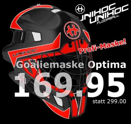 unihoc Goaliemaske Optima 66 schwarz/n..