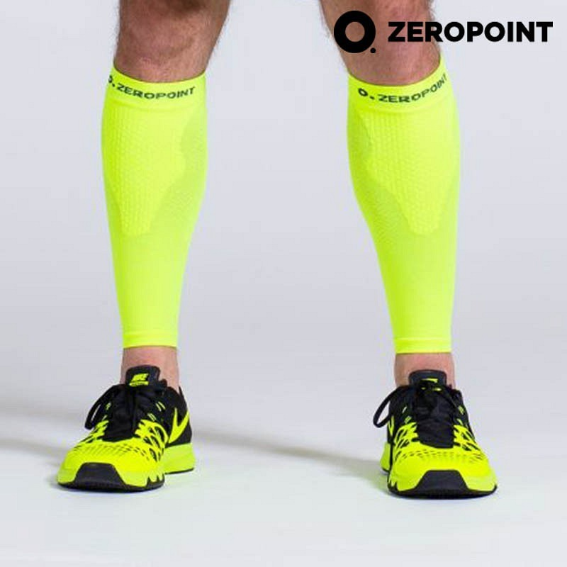 Zero Point Compression Performance Calf Sleeves neongelb