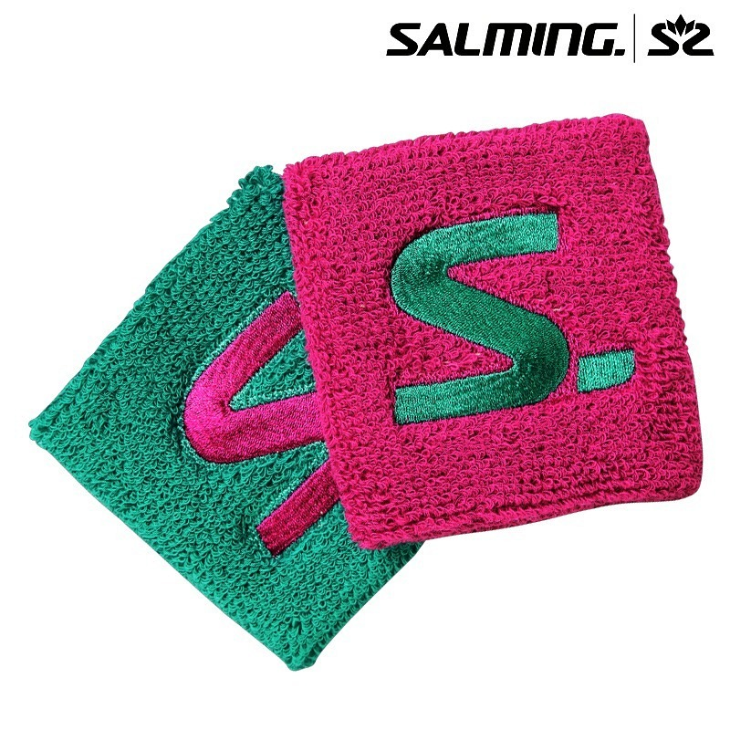 Salming Wristband Short pink/green (2-Pack)
