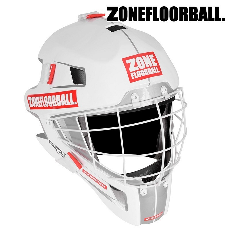 Zone Goaliemaske Monster Square Cage white/red