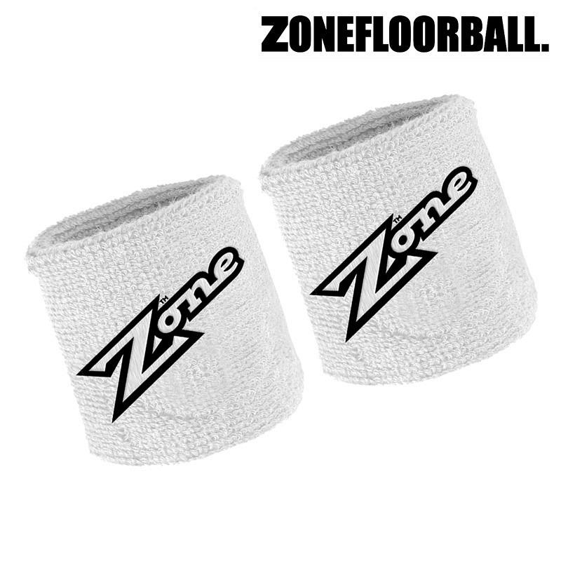 Zone Schweissband Old School white (2-Pack)