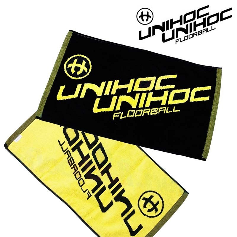 unihoc Handtuch schwarz/gelb