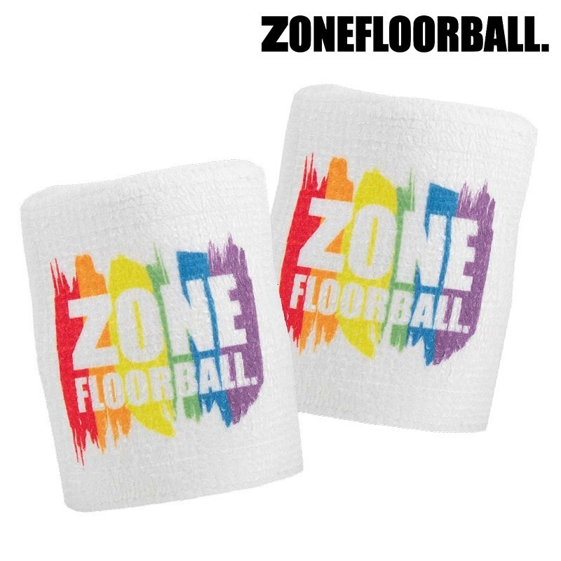 Zone Schweissband Pride white/rainbow (2-Pack)