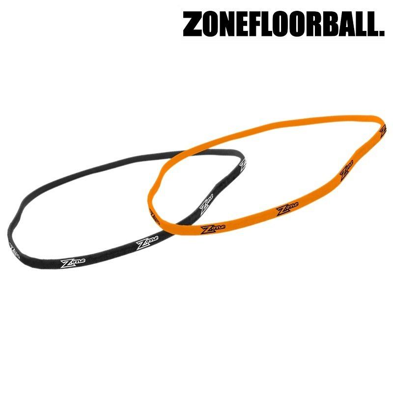 Zone Hairband Slim schwarz/orange (2-Pack)