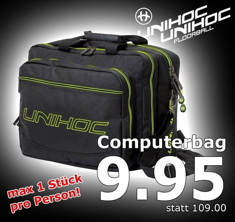 unihoc Computertasche Lime Line