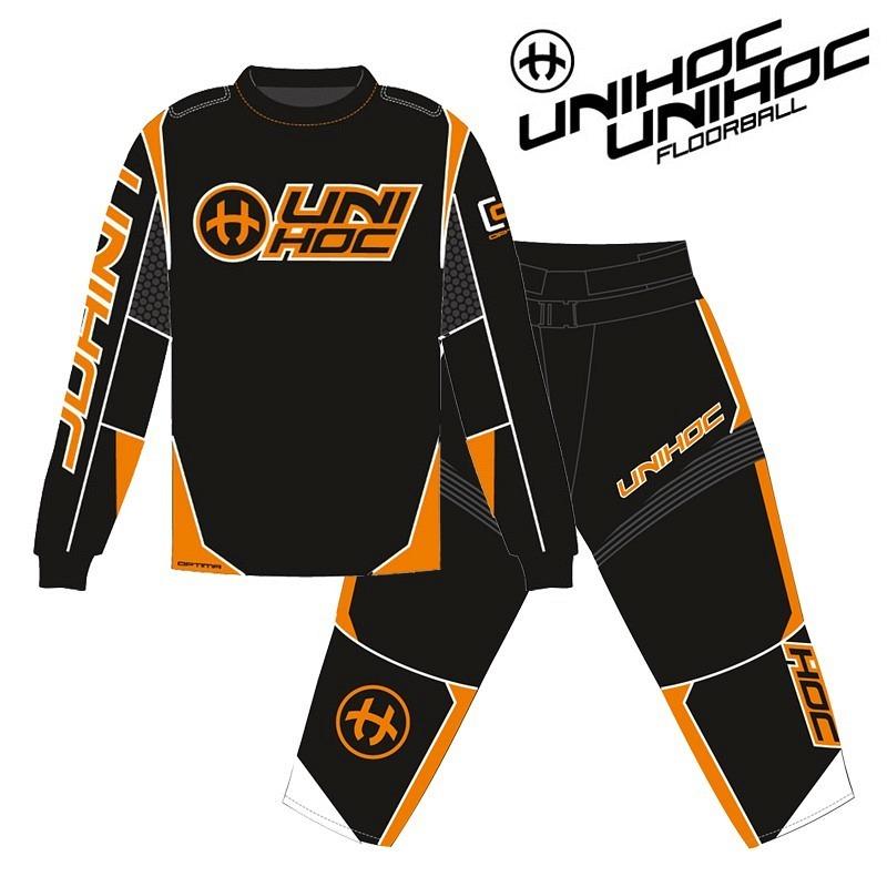 unihoc Goalieset Optima schwarz/neon orange