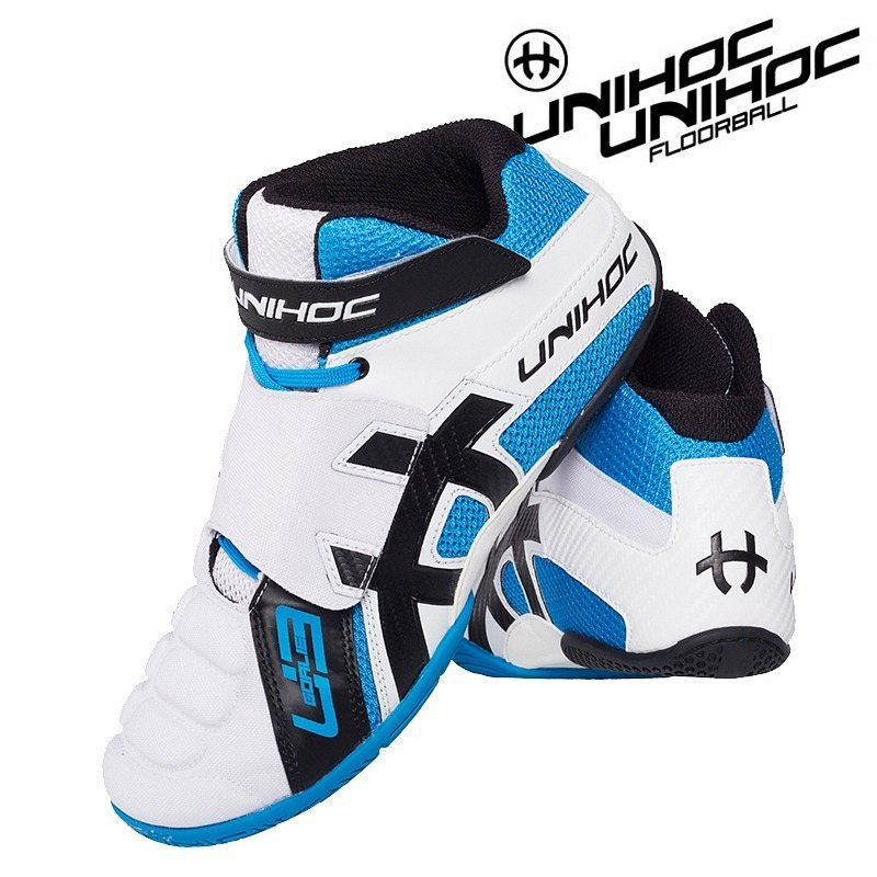 unihoc Goalie Schuh U3 Junior weiss/blau